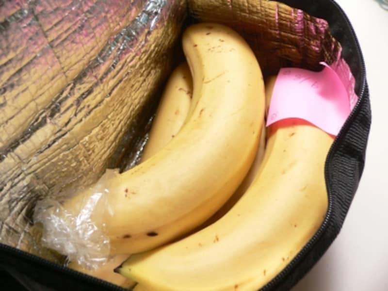バナナの保存法:保冷バック3日後