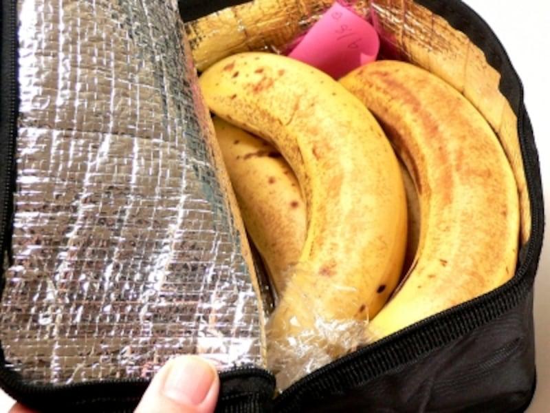 バナナの保存法:保冷バック1週間後