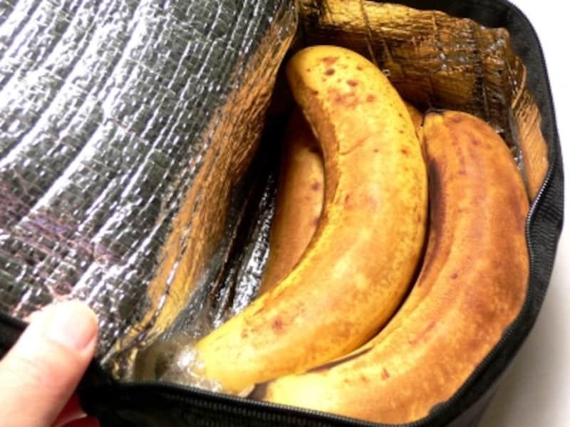 バナナの保存法:保冷バック10日後