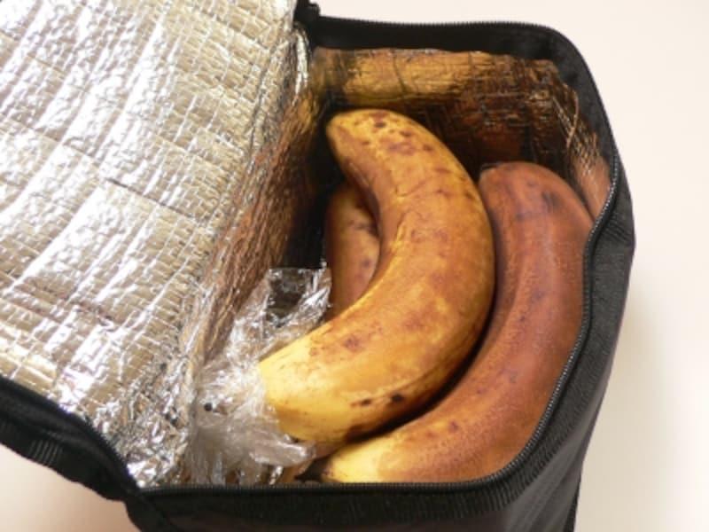 バナナの保存法:保冷バック2週間後