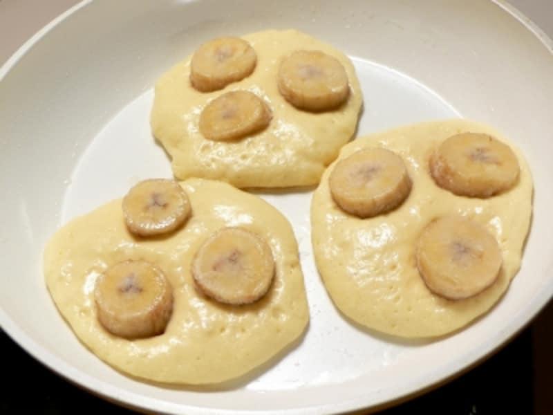 冷凍バナナの使い方、バナナパンケーキ
