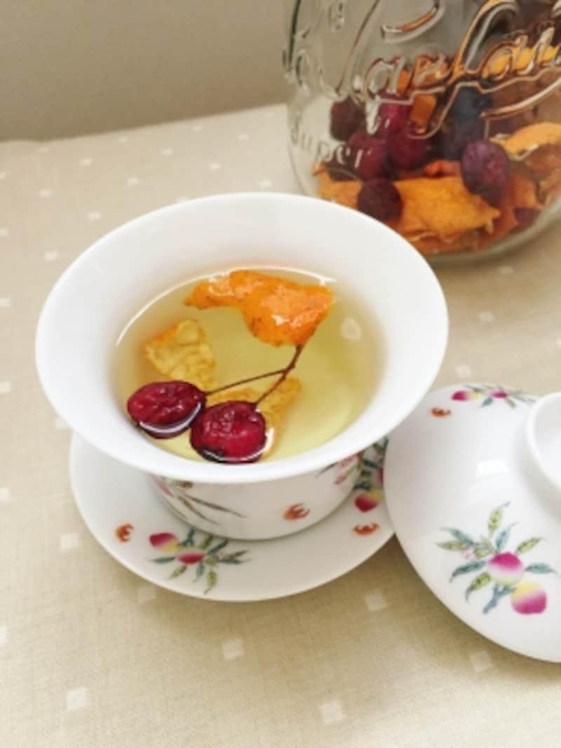手作りサンザシ陳皮茶