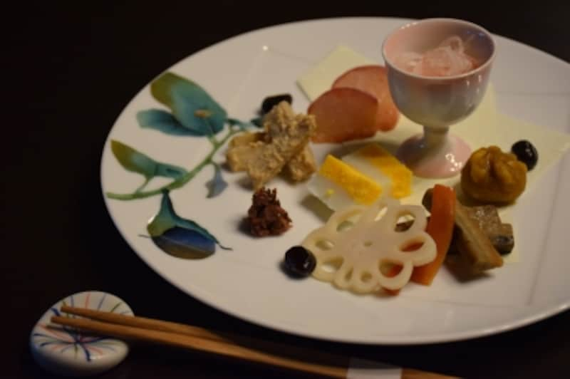 「湯豆腐定食(2000円)」前菜