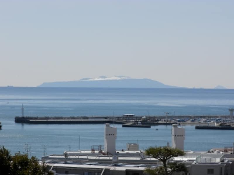 仏舎利塔より望む大島