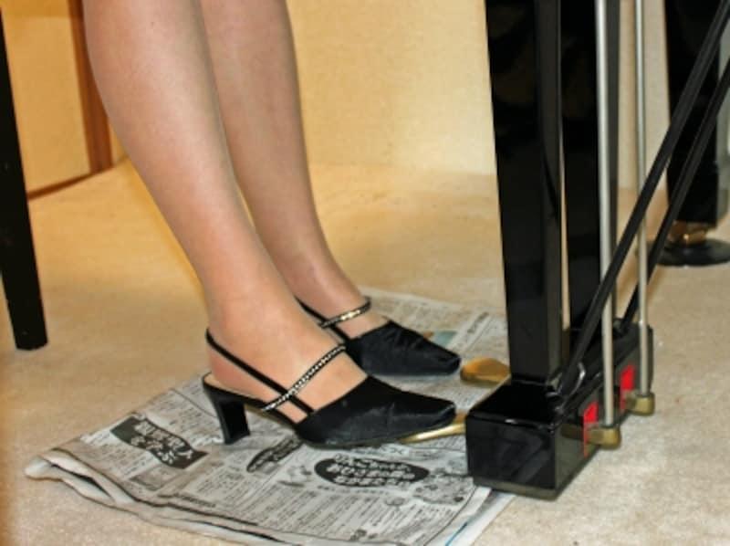 ペダルと靴の写真