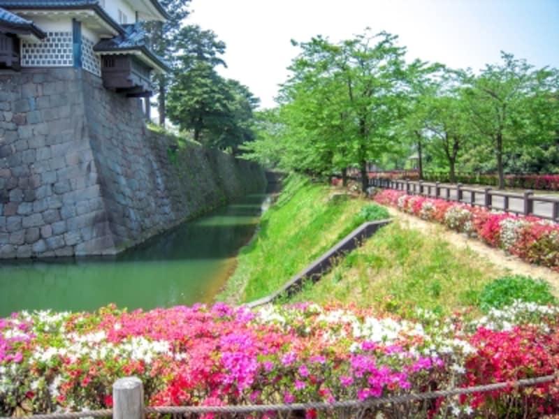 菱櫓と内堀@金沢城公園