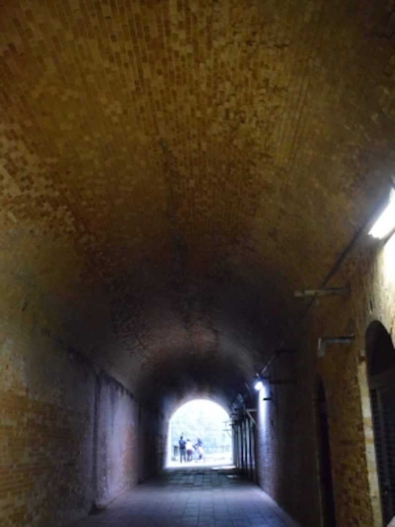 トンネル内部の美しいアーチ