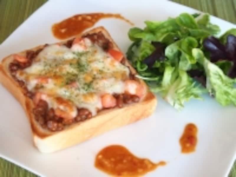 納豆チーズ怪味ピザトースト