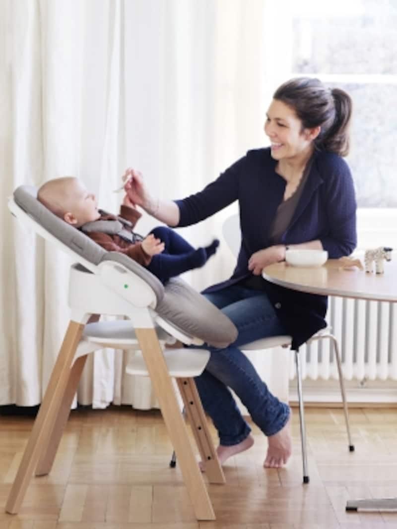 形を変えて、長く使える「ステップス」。新生児から使えます。出産準備品にくわえてみては?