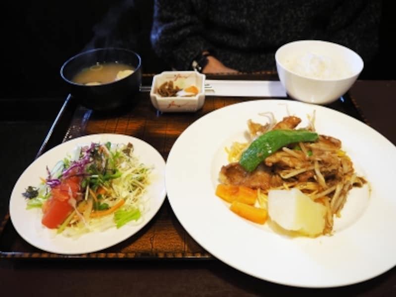 豚ロースしょうが焼き定食@洋食屋RYO