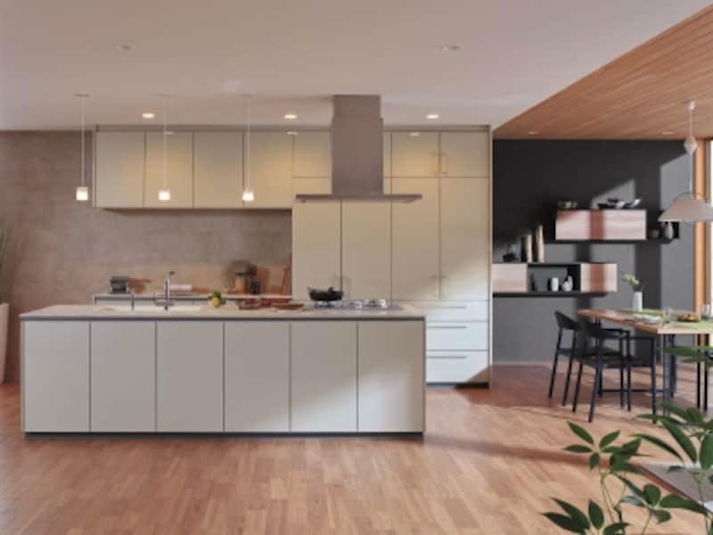 キッチンのレイアウトも構造に関わるもの。住まい全体で考慮したい。[システムキッチンundefinedザ・クラッソ]undefinedTOTOundefinedundefinedhttp://www.toto.co.jp/