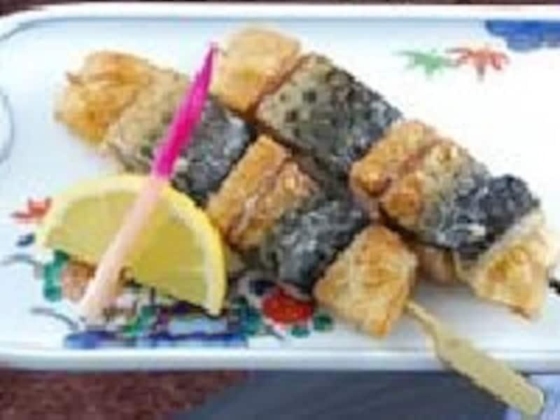 「サバの串焼き」。