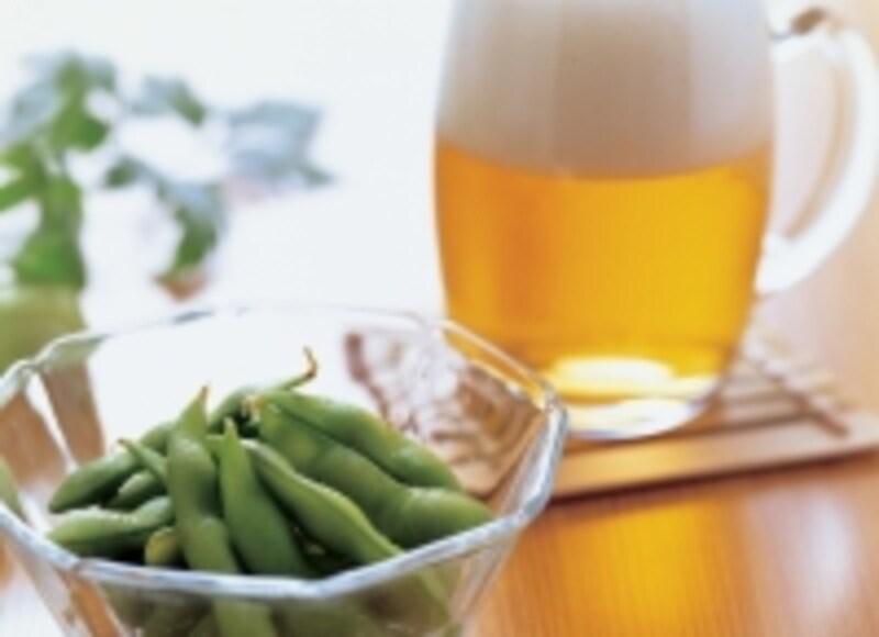 ビールの最強おつまみ枝豆