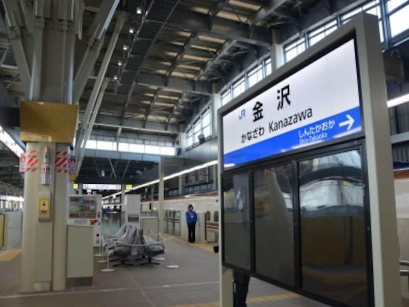 金沢駅ホーム