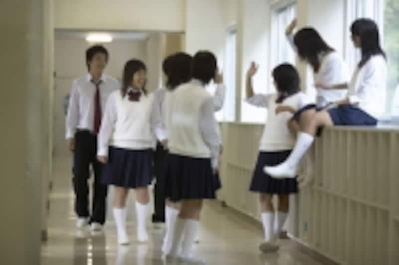 中学生たち