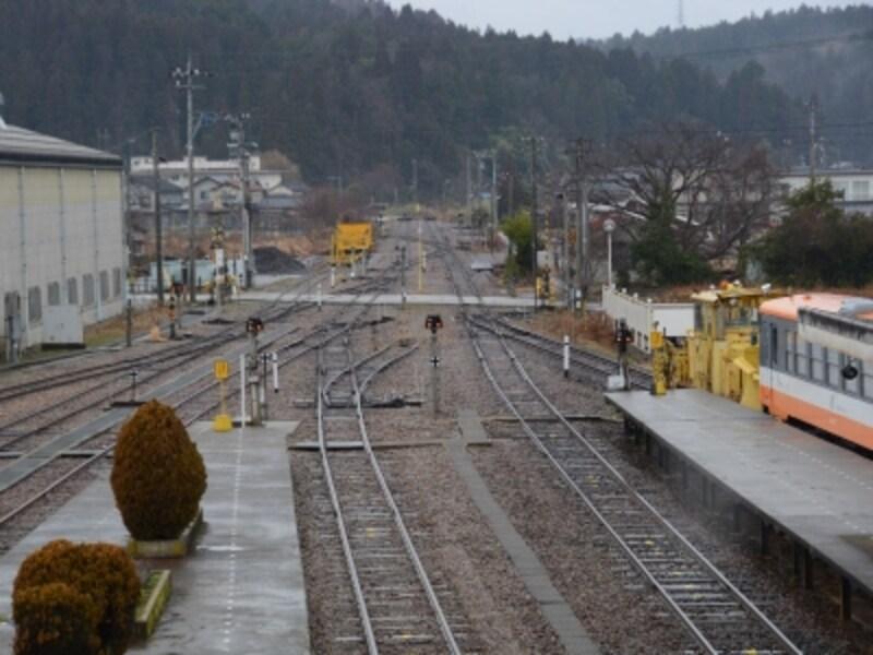 終着駅となった穴水駅