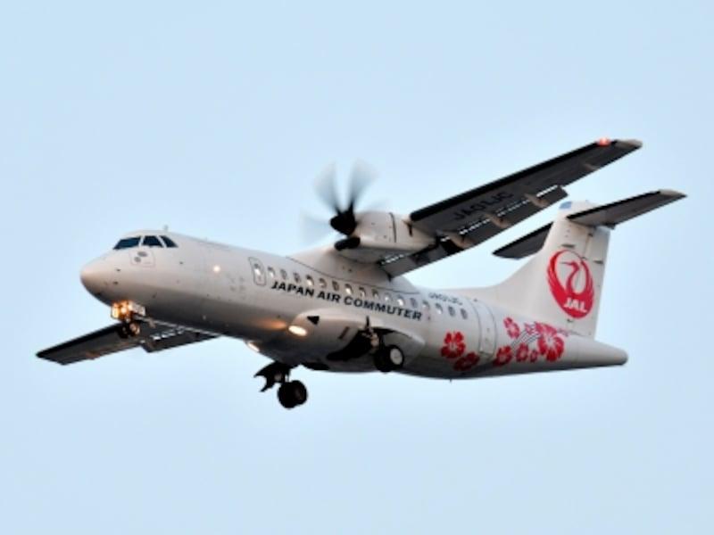 JALの上級会員になるために搭乗回数を稼ぐため最も人気なのが大阪(伊丹)=但馬線。最新のプロペラ機「ATR」で運航されています