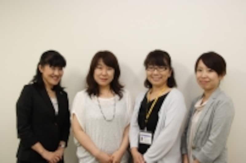 左から松下恭子准教授、岩本里織教授、岡久玲子准教授、多田美由貴助教