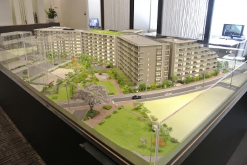 「オーベルグランディオ吉祥寺II」の完成予想模型