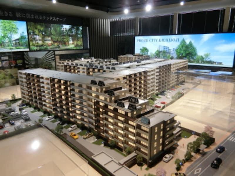「プラウドシティ吉祥寺」の完成予想模型