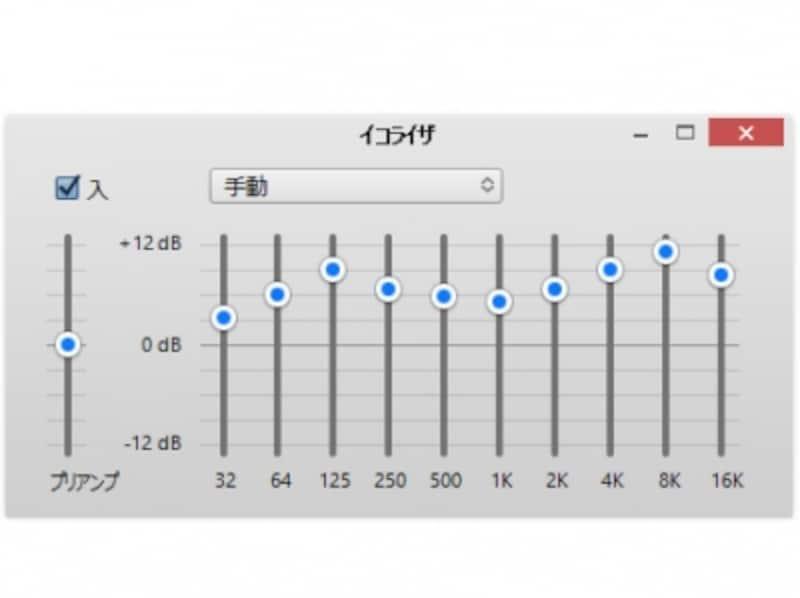 これが「perfect」の設定。左から順番に「+3,+6,+9,+7,+6,+5,+7,+9,+11,+8」