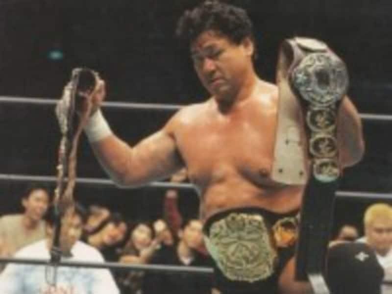 全日本プロレスでは三冠ヘビー級王者にもなっている天龍