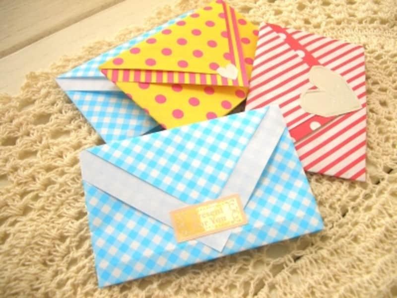 封筒に入れたように見える折り紙ラッピング