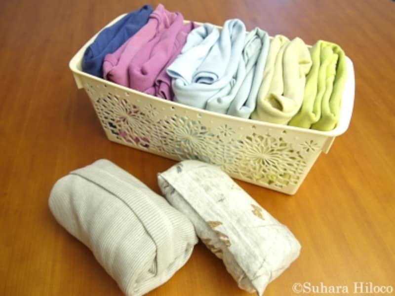 たたんだ服の収納法