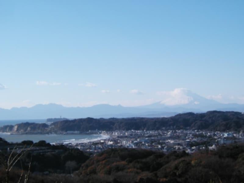 「パノラマ台」から、鎌倉側の眺望