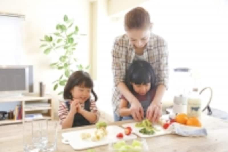 食のお手伝いで子供を伸ばす