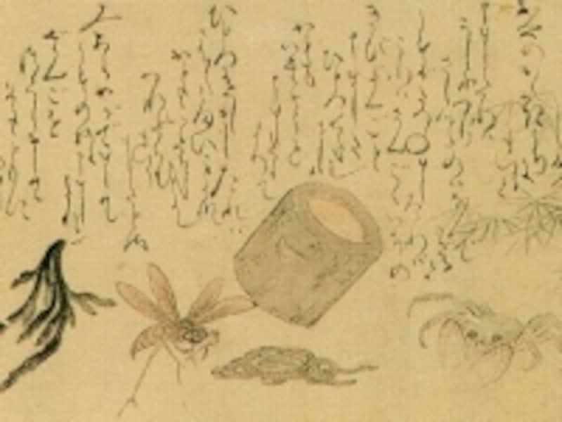 猿蟹合戦絵巻の画像