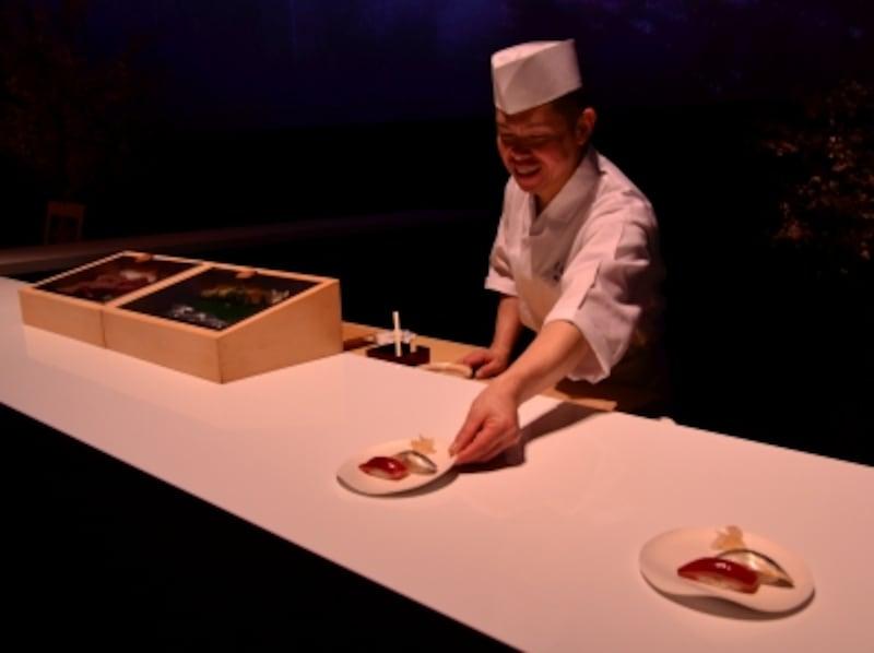 食べるアート展「銀座undefined久兵衛」の美食の一品