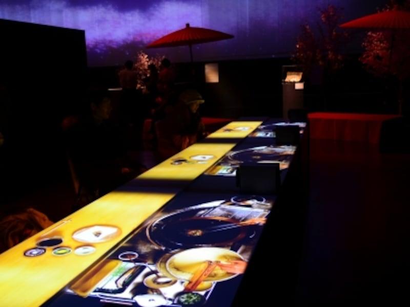 天ぷら店を再現した「美食音響カウンター」