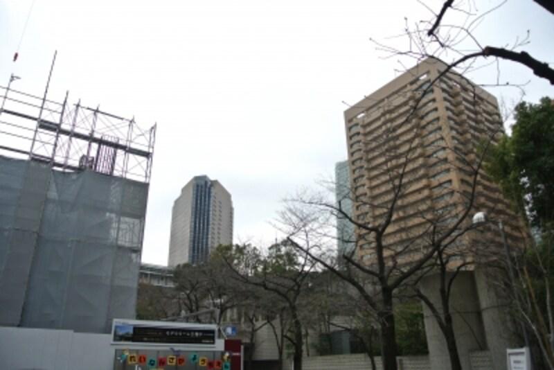 「パークコート赤坂桜坂」の建設地
