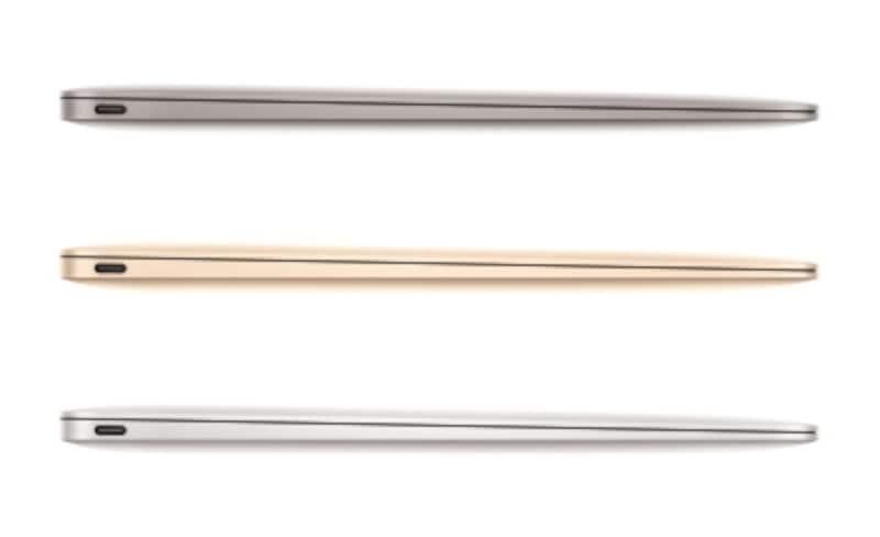 新しいMacBook(シルバー、ゴールド、グレイの3色)