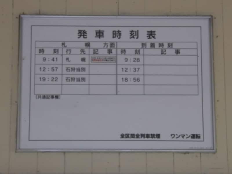 新十津川駅の時刻表
