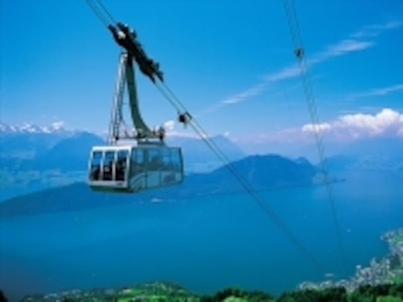 スイスのロープウェイ