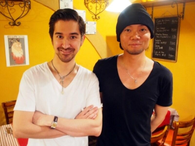 共同オーナーの宮崎健太さん(右)、ヴィクトル・ガルシアさん(左)