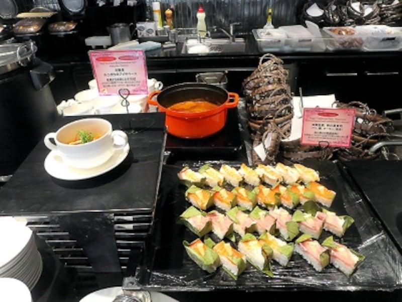 和食のブッフェ台