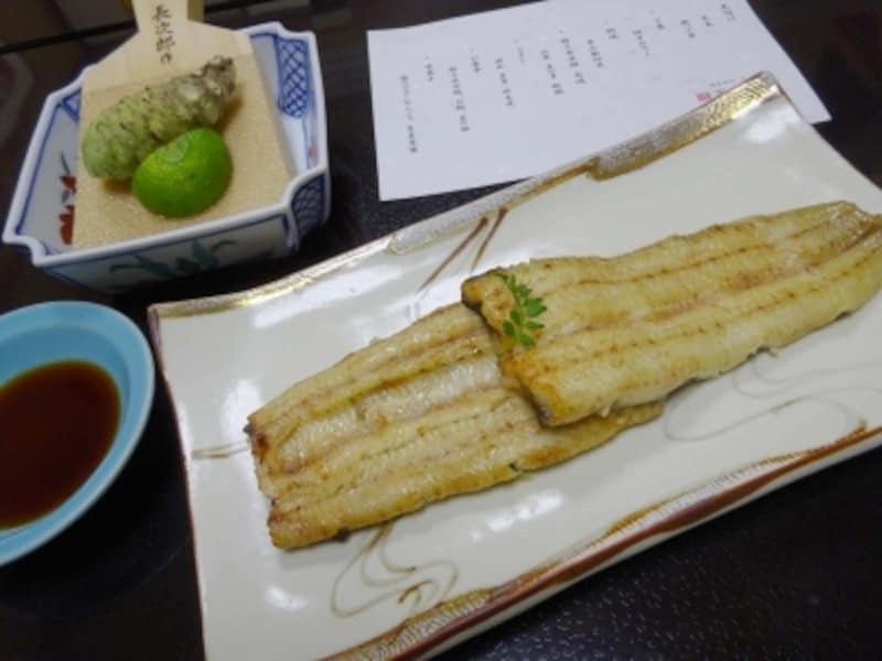 「特上共水鰻白焼き」