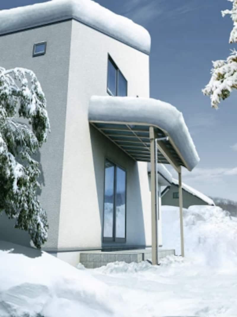 年間平均積雪量100センチの雪が多い地域でも利用できる。[ヴェクターシリーズ共通仕様多雪地域対応]undefinedYKKAPhttp://www.ykkap.co.jp/