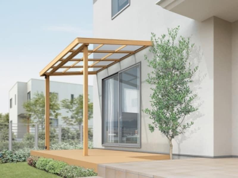 木目調のすっきりとしたデザインは、どんな外観デザインにも合わせやすい。[シュエットundefinedクリエペール]undefinedLIXILundefinedhttp://www.lixil.co.jp/