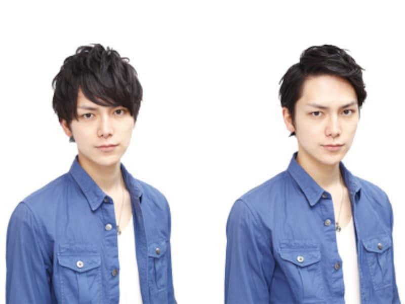 男性だって前髪を変えれば印象は大きく変化します。