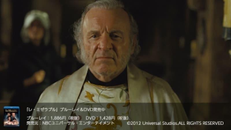 映画版『レ・ミゼラブル』で司教役を演じたコルム・ウィルキンソン