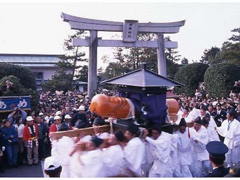 天下の奇祭・豊年祭は毎年3月15日。海外からの見学者も多い