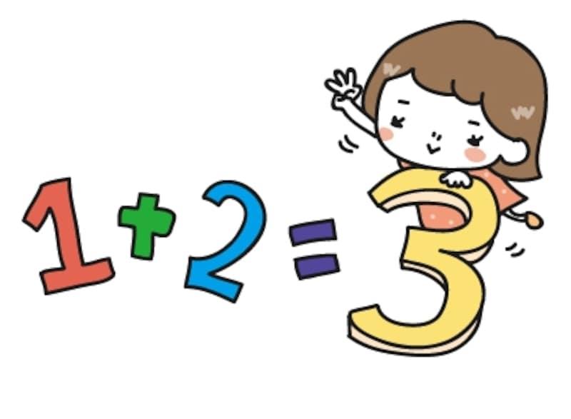 【カラー】算数のイメージカットです。