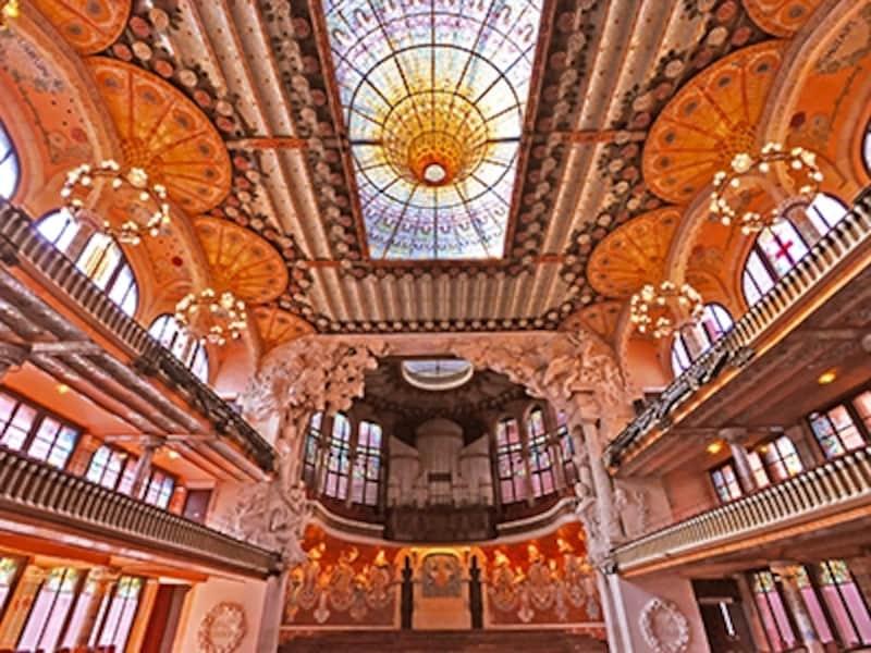 カタルーニャ音楽堂の内部空間