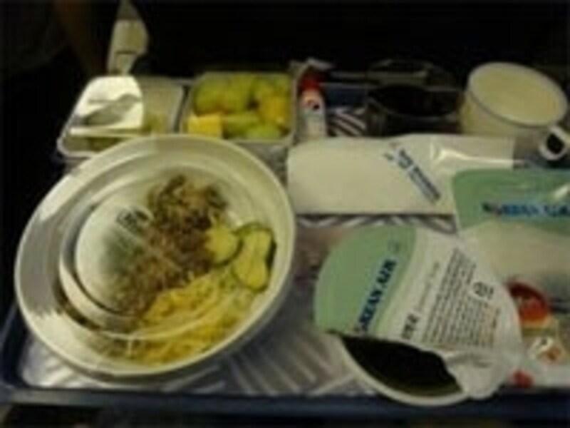 大韓航空名物、機内食のビビンバ