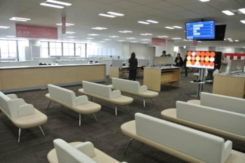 新庁舎3階の窓口サービスゾーン