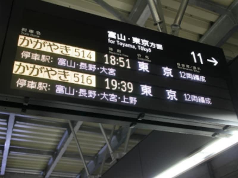 金沢駅電光掲示